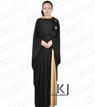 Fashion Decals Muslim abaya manchette musulman Korea Crystal linen ladies abayas turkey womens clothing islam long dress KJ-AM56(China (Mainland))