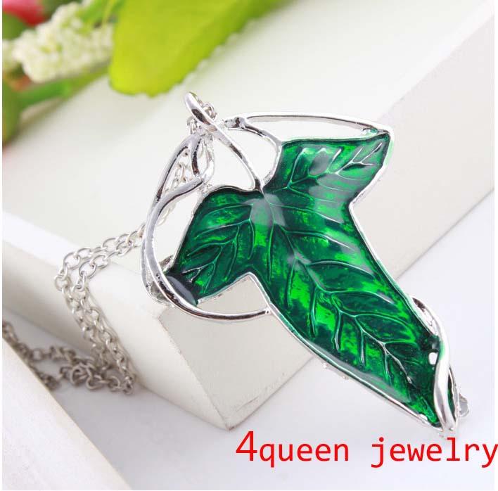 2014 trendy jewellry Lord Rings Elven Leaf Pendant Arwen Evenstar leaf collar - 4 Queen Jewelry store