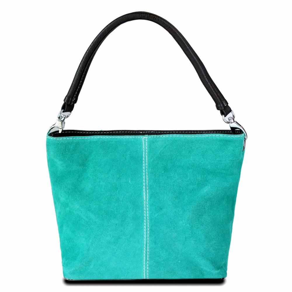 Señorita Lulu mujeres del diseñador Celebrity verde Retro Real italiana Suede cuero Material de bolso de mano pequeño bolso de mano(China (Mainland))