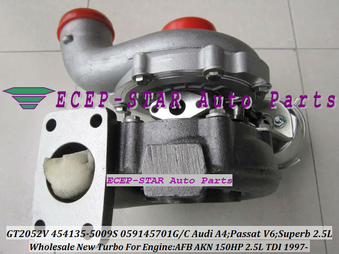 Воздухозаборник ECEP-STAR GT2052V 454135/5009s 454135 059145701G/C AUDI A4 2.5TDI PASSAT V6 SKODA Superb 2.5 TDI AFB AKN 150 . free ship turbo cartridge chra core bv39 54399700022 54399880022 turbocharger for audi a3 superb altea caddy bjb bkc bxe 1 9 tdi