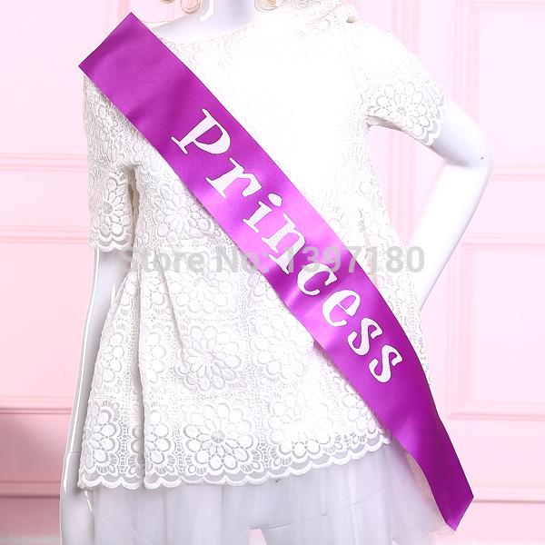 Fashion purple and white princess sash love stylish ribbon party band events supplies favor girls dress accessories 2015(China (Mainland))