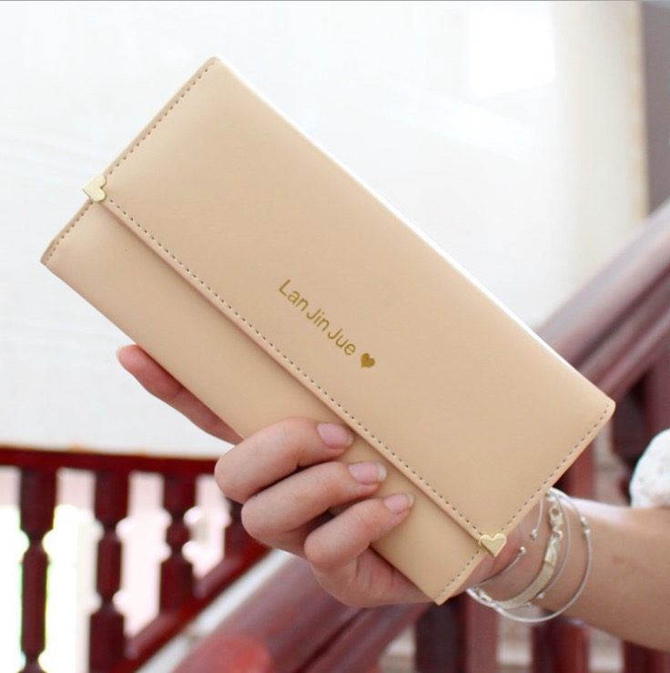 Carteira Feminina Rushed 2016 New Ladies Purse Long Wallet Card Package Can Be Placed More Than 13 Mobile Phone Color Optional(China (Mainland))