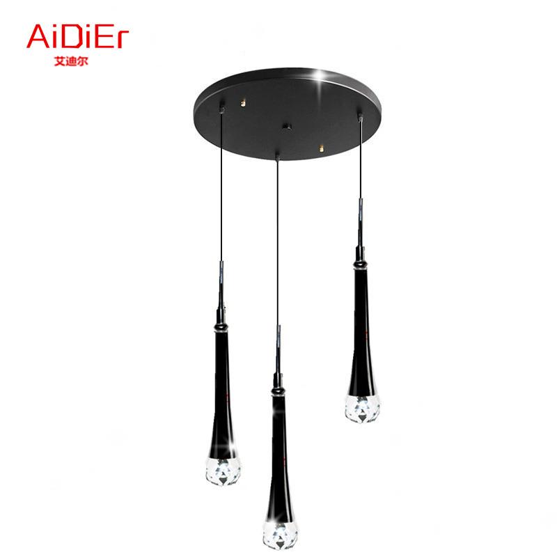 Modern LED Crystal Pendant Lights bedroom restaurant lamps simple hanging lighting manufacturers wholesale FT-022(China (Mainland))