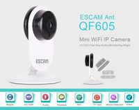 Escam 720P Mini Indoor IR Wireless Wifi CCTV IP Camera Remote Monitoring Security Microphone For 2 Way Intercom For IOS Android