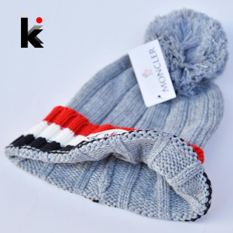2015 cap vogue brand winter beanie wool headwear hats for women men Hairball knit hat female