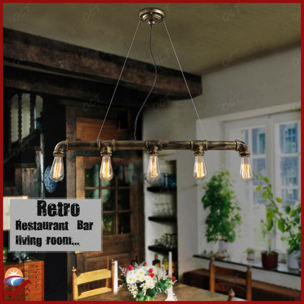 Vintage america retro industrial lighting water pipe for Balcony restaurant group