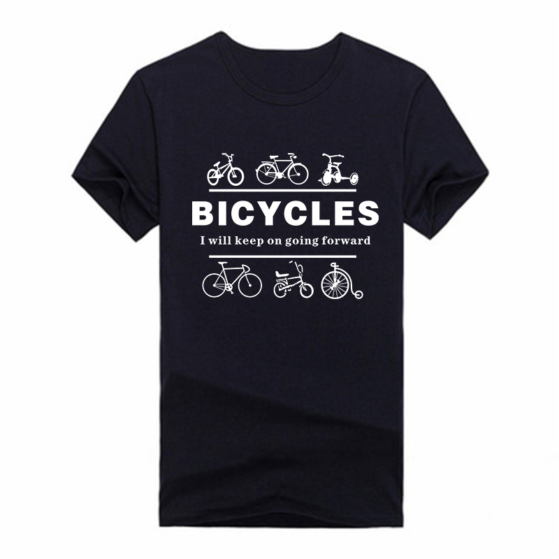 Cheap Sale Bicycles T Shirts Men Plus Size Casual Sport Tshirts Short Sleeve Crew Neck Cotton T-shirts Tops Tees(China (Mainland))
