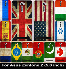 Soft TPU & Hard PC Cases Asus Zenfone 2 ZE500CL 2E Z00D Zenfone2 5.0 Inch Shell National Flag Russia Brazil Spain Case Cover - AKABEILA Official Store store