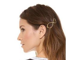 H794-241 10pcs/Lot Free Shipping cheap metal gold infinity hair pins hair clip hair barrette(China (Mainland))