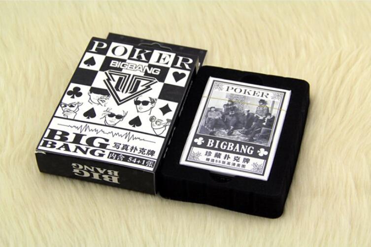 الشحن مجانا كوريا البوب فرقة سوبر ستار بيغ بانغ بوكر g-التنين taeyang لل أوراق اللعب هدية ل أصوات مضحكة(China (Mainland))