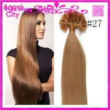 Cheap Brazilian Virgin Pre-bonded Hair Keratin Fusion Nail Hair U Tip Hair Extensions 1G/S 50G/PC 1Pc/Lot No Tangle In Stock