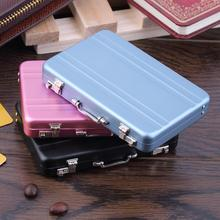 Mini Briefcase Business Card Case ID Holders Password Aluminium Credit Card Holder(China (Mainland))