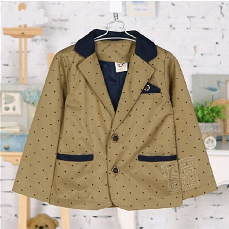 2015 spring and autumn new style five-pointed star baby boys long sleeve suits little boys blazers boys outerwear A2199(China (Mainland))