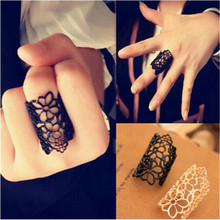 Buy 1PC Hot Fashion Vintage Punk Rings Retro Simple Hollow Flower Long Knuckle Gold Black Color Ring Women Jewelry for $1.18 in AliExpress store