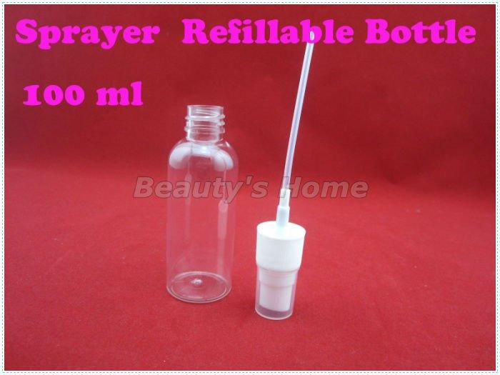 100ml spray refillable bottle Perfume Atomizer Spray Bottles Transparent Small Empty Bottle Wholesale free shipping#0295(China (Mainland))