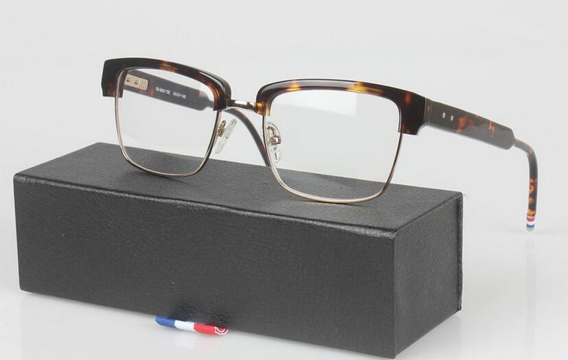 TB806 retro square plate glasses frame myopia men and women brand design optical frames fashion half-framed glasses(China (Mainland))