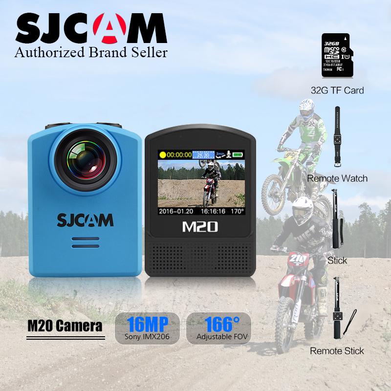 "Original Sjcam M20 24FPS Full HD 16MP Gyro Action Helmet NTK 96660 1.5"" Diving 30M waterproof Sports DV +Remote Control+ Monopod(China (Mainland))"