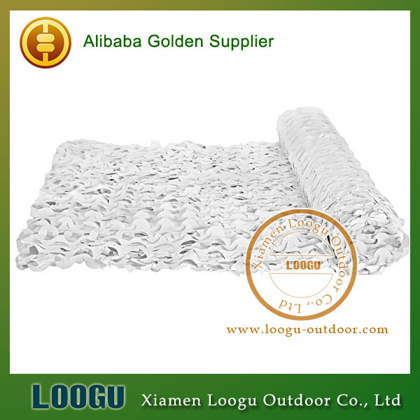 cheap white camouflage netting snow camo netting bulks roll of camoflage netting white color 2*3m(China (Mainland))
