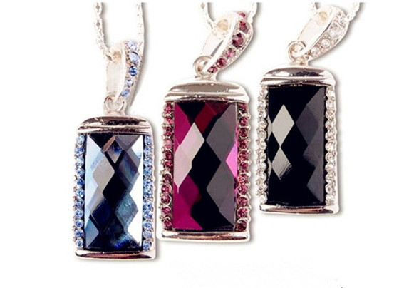 jewellery diamond necklace USB Flash Drive 4GB 8GB Memory Card Stick 16GB 32GB Thumb/Car key/Pendrive U Disk/creative Gift(China (Mainland))