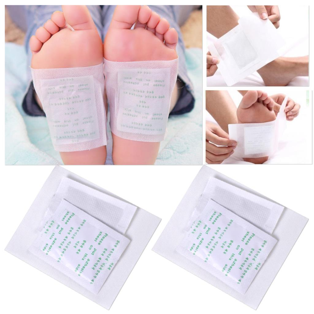 100pcs New Cleansing Detox Foot Pads Patches w/ Adhesive Detoxify Toxins Health Care Organic Herbal Fatigue Relief Improve Sleep cheap