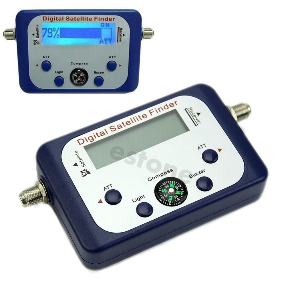 Free Shipping Digital LCD Satellite Finder Satfinder Signal Strength Meter Sky Dish Freesat<br><br>Aliexpress