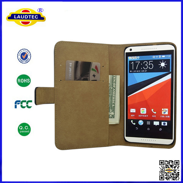 200pcs/lot leather phone case for htc desire 816 laudtec(China (Mainland))