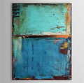 One Oil Painting Vintage Abstract Canvas Art Blue Color Painting with Numbers Hand painted Canvas Wall