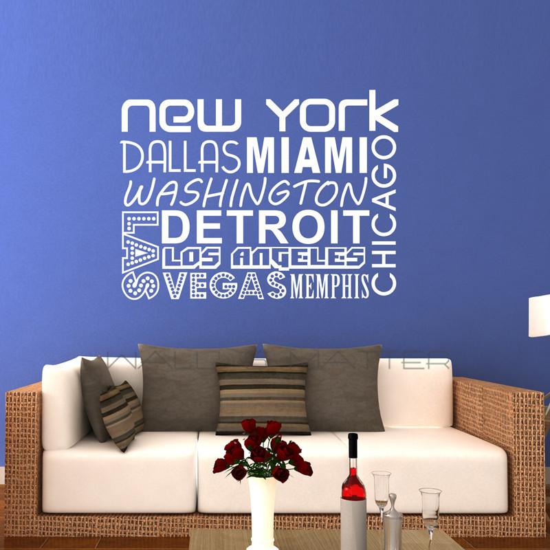 new york quality vinyl black wall sticker sentences love