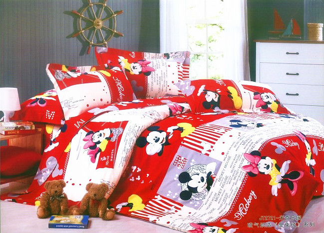 red mickey and minnie mouse kids bedding in bedding sets