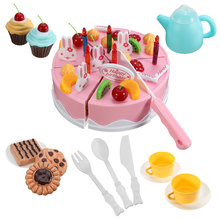 Buy 54pcs Kids Kitchen Toys Birthday Cake Cut Toys Pretend Play Plastic Food Toys Kitchen Cake Games Children Girl Cocina Juguete for $10.99 in AliExpress store