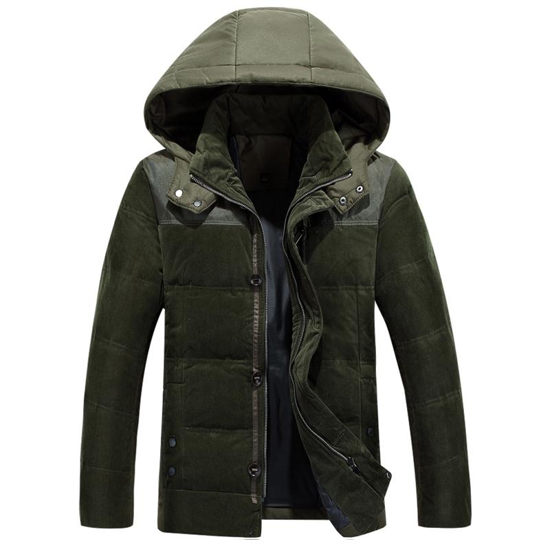 2015 Men Down Coat With Hood Coat Men Winter Jacket Men s Male White Duck Down