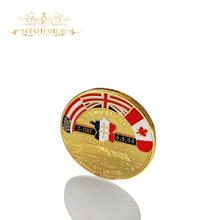 2017 Regalo 24 k Chapado En Oro de La Moneda ARROMANCHES 1944 6.6 D-DAY Desafío Coin Envío Libre Moneda de Metal(China (Mainland))