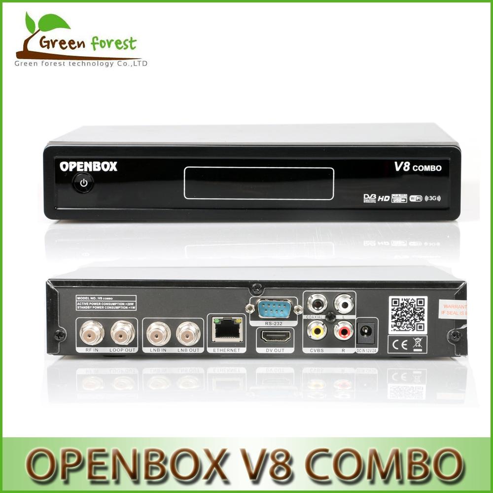 Original Openbox V8 Combo HD Satellite Receiver DVB-S2+DVB-T2 Tuner Support WEB TV and IPTV Server Openbox v8 Satellite Receiver(China (Mainland))