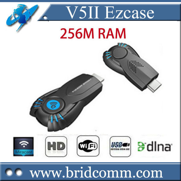Ezcast v5ii media player smart tv stick with function of DLNA Miracast better than android tv box chromecast mk808 mk908(China (Mainland))