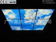 Blue and white 2014 new ceiling indoor ceiling LED panel light-emitting classic blue and white(China (Mainland))