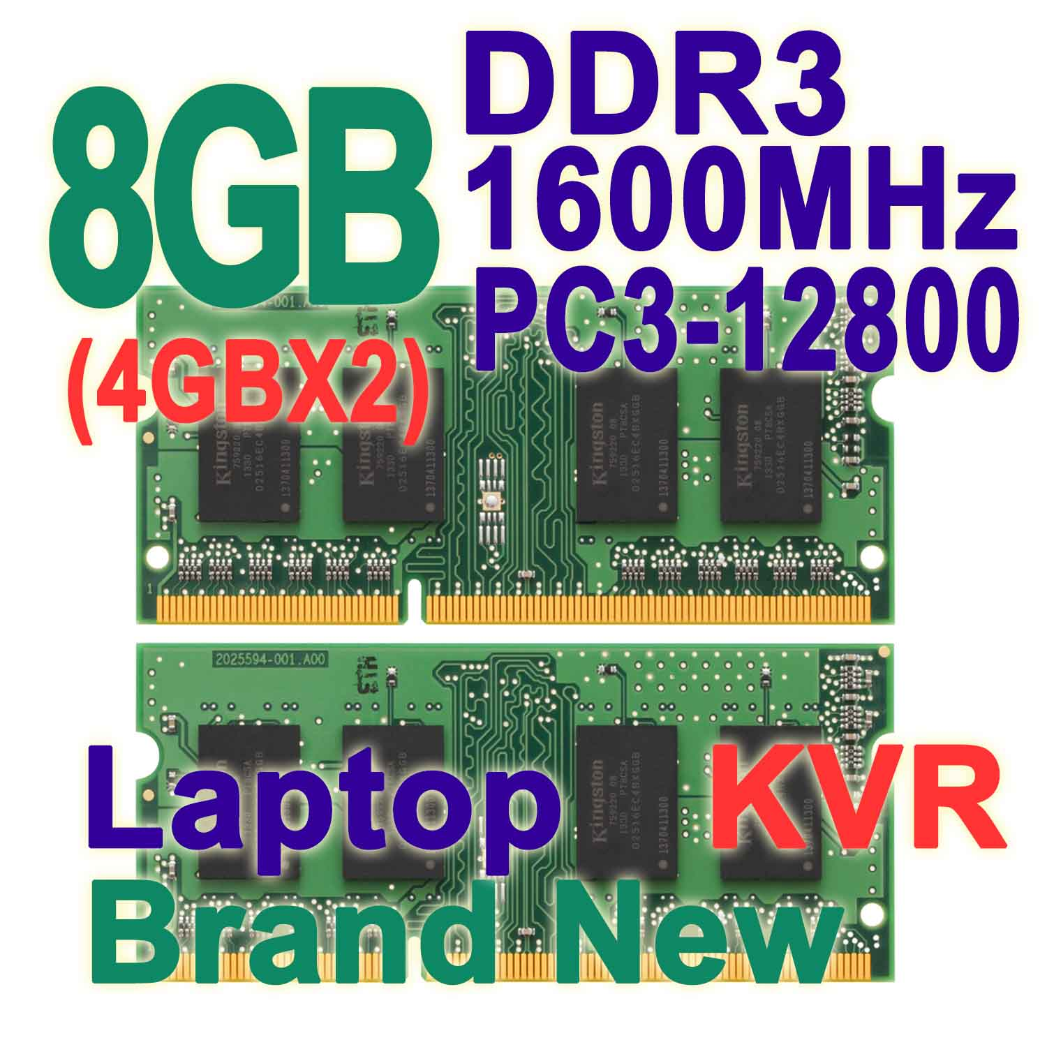 8GB Kit ( 4GB X2) Dual Channel DDR3 1600MHz 204-pin SODIMM PC3-12800 Non-ECC CL11 Notebook Laptop Memory RAM For Intel &amp; AMD KVR<br><br>Aliexpress