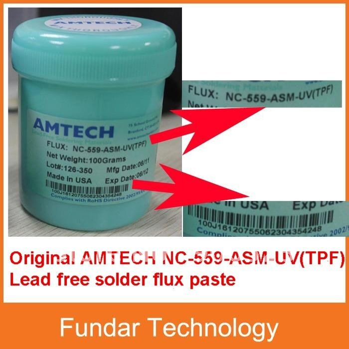 Free Shipping Original AMTECH NC-559-ASM-UV(TPF) 100g lead free BGA solder Flux Paste(China (Mainland))