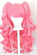 D&M32056 >Gothic Lolita Wig + 2 Pig Tails Set Light, Dark Pink Mix Blend Cosplay NEW Discount 35%(China (Mainland))