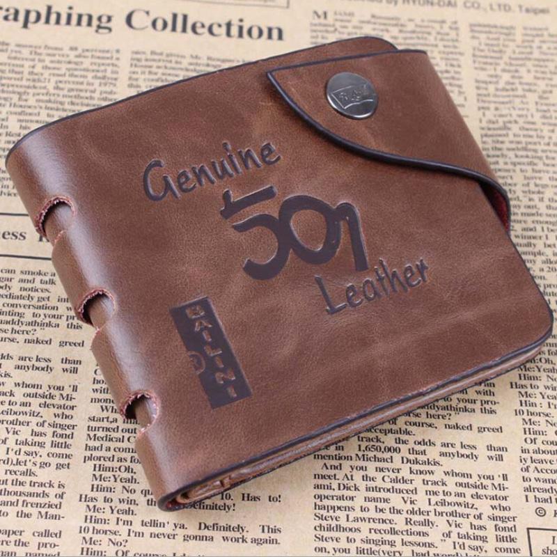 10 Style Brown Fashion Short PU Leather Men Bifold Wallet Mens Bifold Folding Cowhide Wallets Famous Brand Masculine Billeteras<br><br>Aliexpress