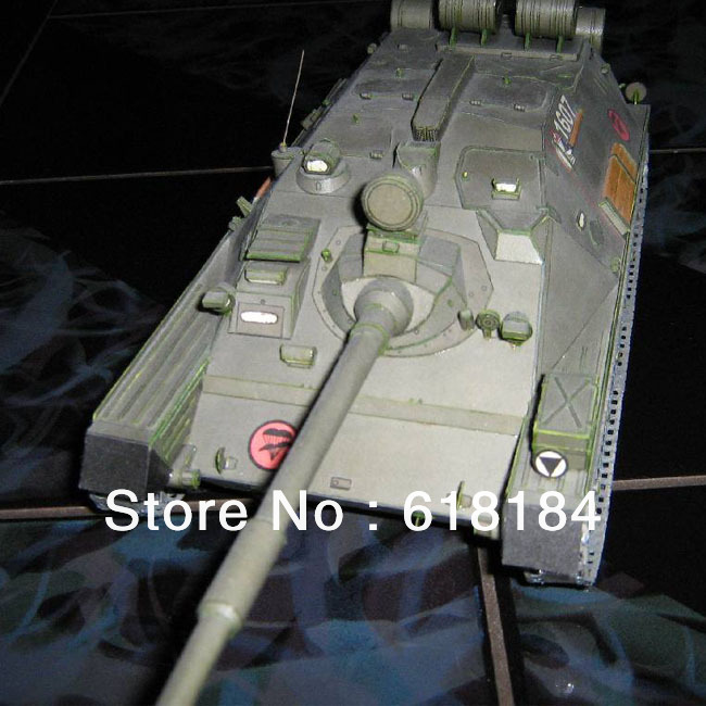 Free shipment diy toys paper model Tanks 1:25 Russia ASU-85 Airborne tank destroyer army vehicle models 3d puzzles for adults(China (Mainland))