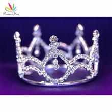 Bridal Wedding Bridesmaid Party Baby / Flower Girl Rhinestone Full Circle Round Mini Crown Tiara CT1040(Hong Kong)