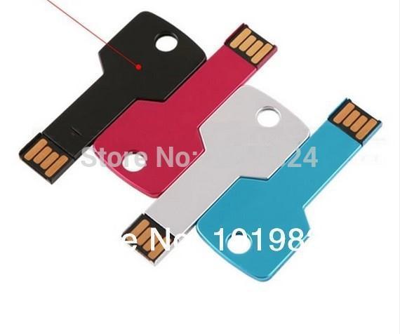 100% real capacity pendriveping Gift USB Flash Drive Pen cool Metal Key Card Memory Stick Drives16G8G Micro Data S44 #AA(China (Mainland))