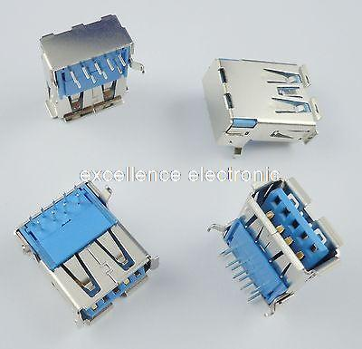 20Pcs USB 3.0 Type-A Female 9 Pin DIP Socket Connector