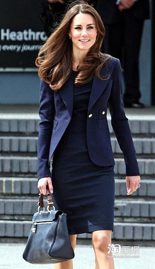 2015 Summer New Princess Kate Middleton paragraph Slim Thin Short-Sleeved Dress Commuter OL Career Woman KT015 - B2B Super Star store