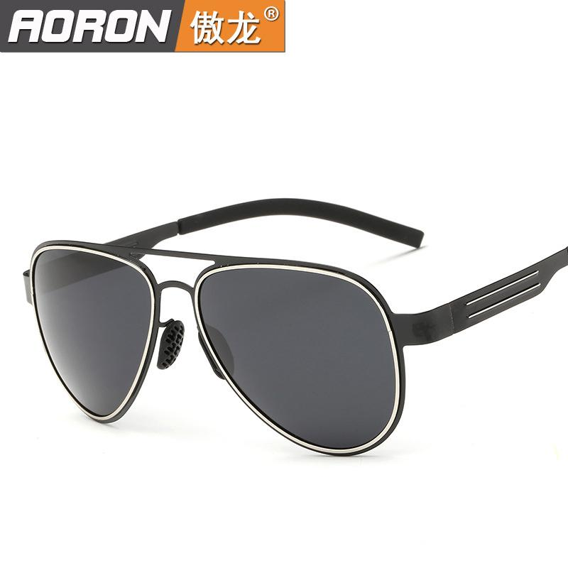 Men and women fashion luxury Stainless steel sunglasses Points sun Polarized light sunglasses rb polarized sunglasses men(China (Mainland))