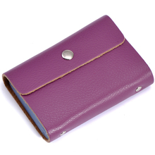 Fashion business card holder 100% genuine leather women credit card holders solid casual card case credit card bag free shipping(China (Mainland))