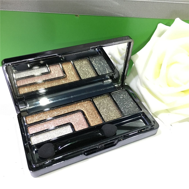 2016 Hot 5-color professional beauty makeup essential eye shadow colorful shining waterproof do not fade free shipping GH-G435(China (Mainland))