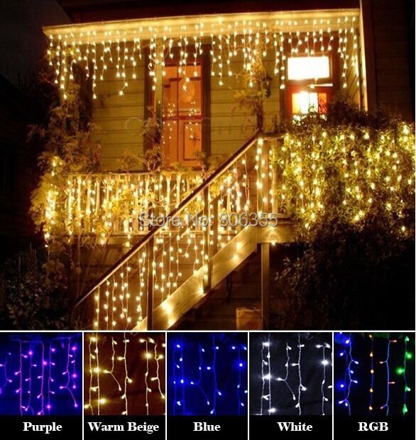LED icicle light, 180led Christmas light, 26 strings, from first to last string 3.8m,string:8/6/10/4 led, led distance 5 cm ,(China (Mainland))