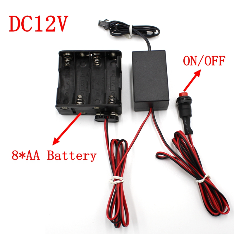 3V AA Battery 5V USB 12V Car Cigar Lighter Sound Activation Inverter Power Adapter Drive Accessory For EL Wire