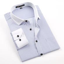 2015 Brand Fashion Contrast Collar Men Shirt Long sleeve Business Formal Shirt Casual Social Male Dress Shirts camisa(China (Mainland))